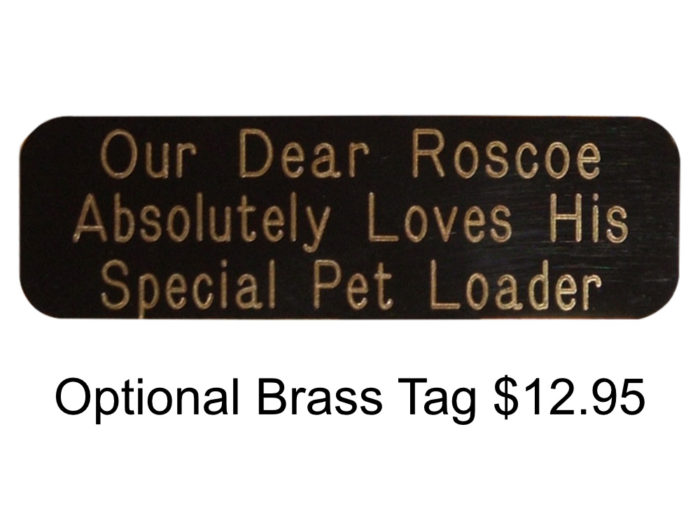 Pet Loader Brass Tag Option